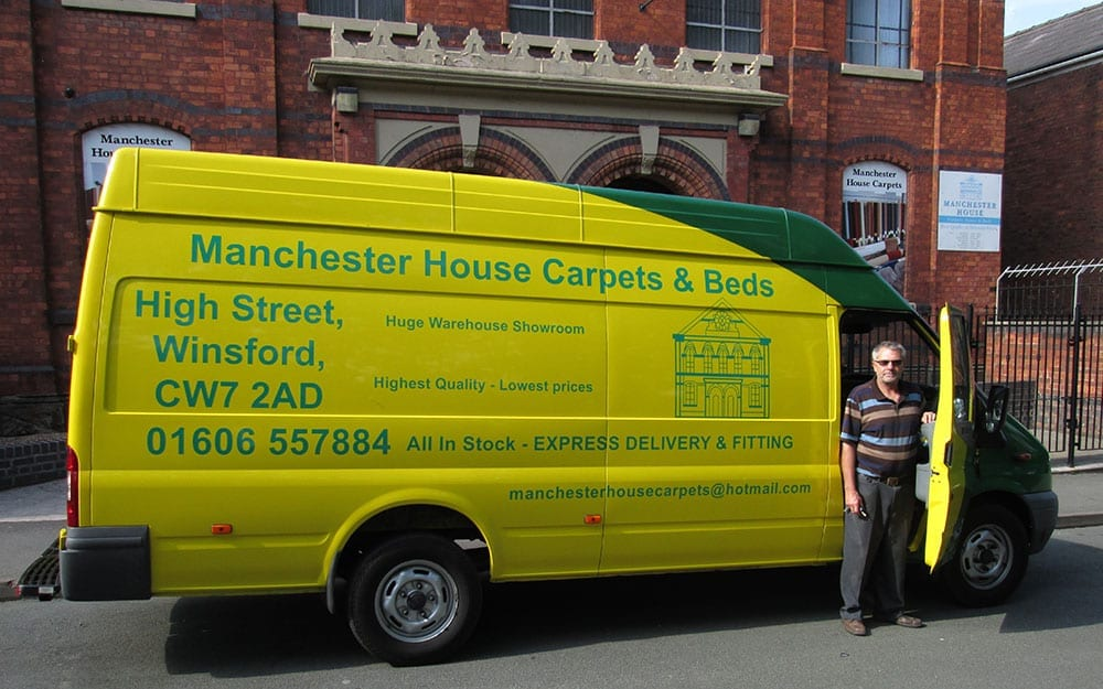 Manchester House Carpets Van
